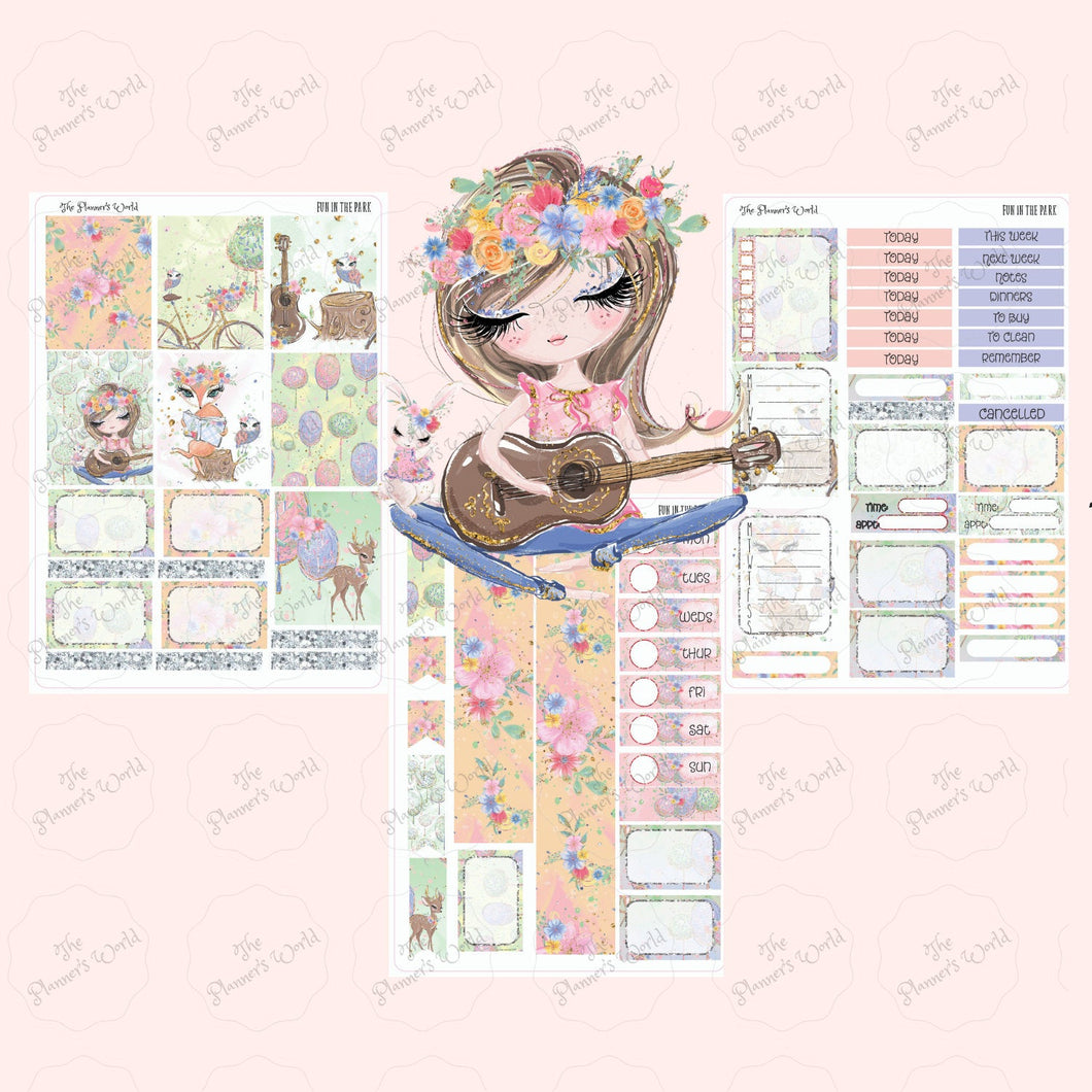 Fun in the Park Mini weekly planner stickers - The Planner's World