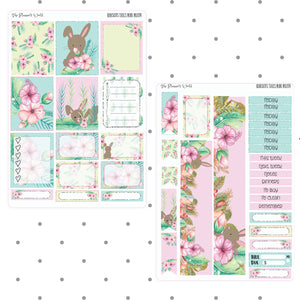 Hibiscus Tails Mini planner sticker kit - The Planner's World