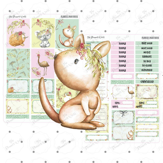 Planners Down Under weekly kit planner stickers - The Planner's World