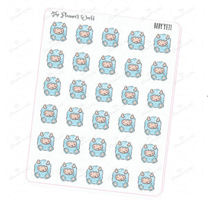 Baby Yeti Planner Stickers - The Planner's World