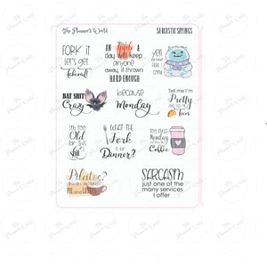 Sarcastic Sayings - Adulting Planner stickers - Sarcastic Stickers - script stickers - adult stickers - snarky saying stickers - The Planner's