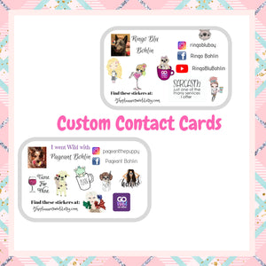 Contact cards -  Custom Sticker - Contact Card stickers - The Planner's World