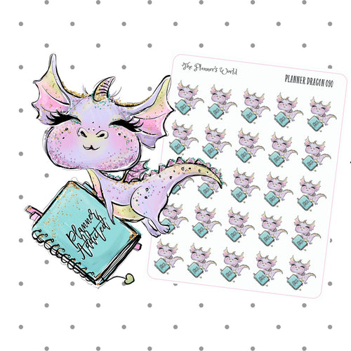 Dragon with Planner Stickers - The Planner's World