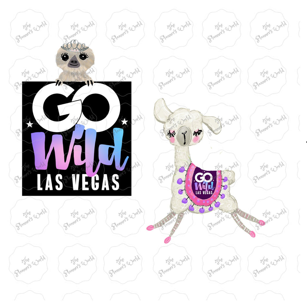 Planner Die Cut - go wild - llama Diecut -  go wild stickers - die cut - official go wild die cut - go wild 2019 diecut - meetup - vegas - The Planner's World