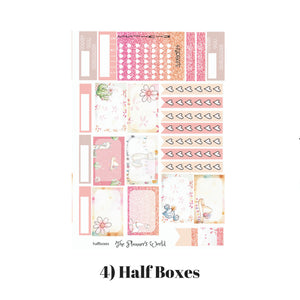 Llama Love Vertical Sticker Kit - The Planner's World