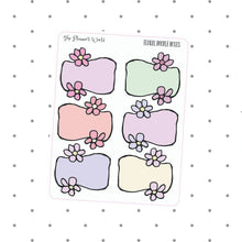 Floral Doodle Boxes - The Planner's World