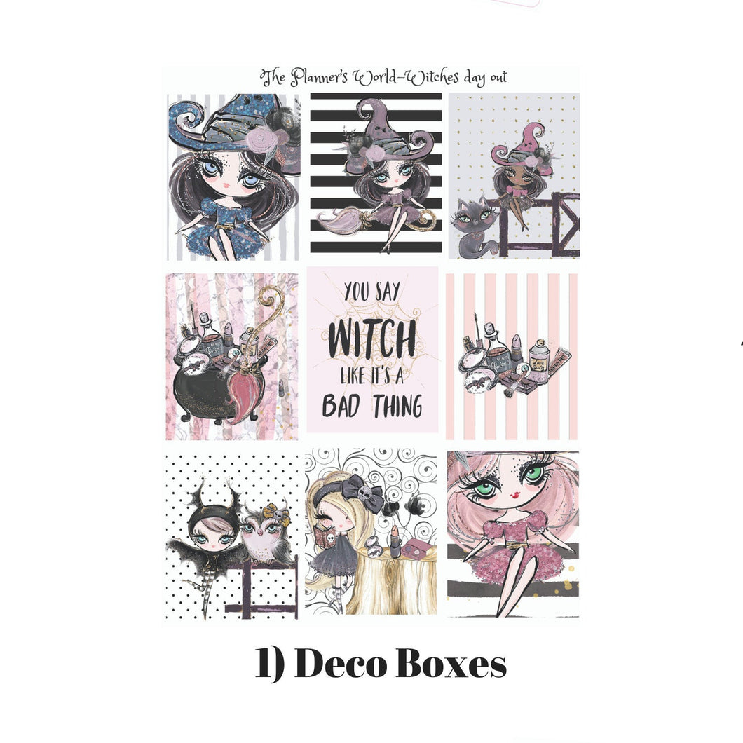 Witches Day Out Weekly vertical sticker kit - The Planner's World