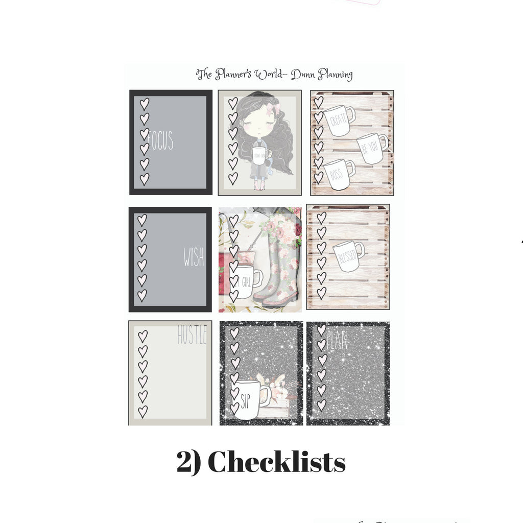 Dunn Planning weekly vertical Sticker Kit - The Planner's World