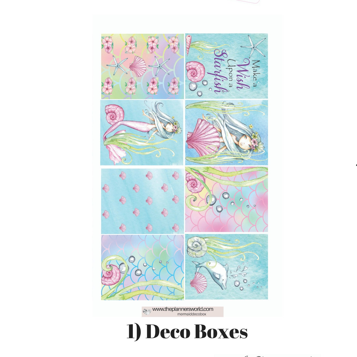 Wish Upon A Starfish Ala Carte Weekly Kit Mermaid Planner Stickers The Planner S World