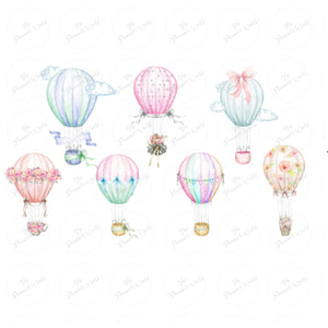 Hot Air Balloon Diecut - Diecuts - hot air balloon sticker - balloon - hot air balloon - die cut - watercolor - The Planner's World