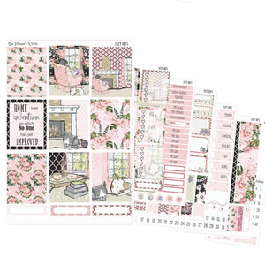 Fireplace and Friends vertical sticker kit - The Planner's World