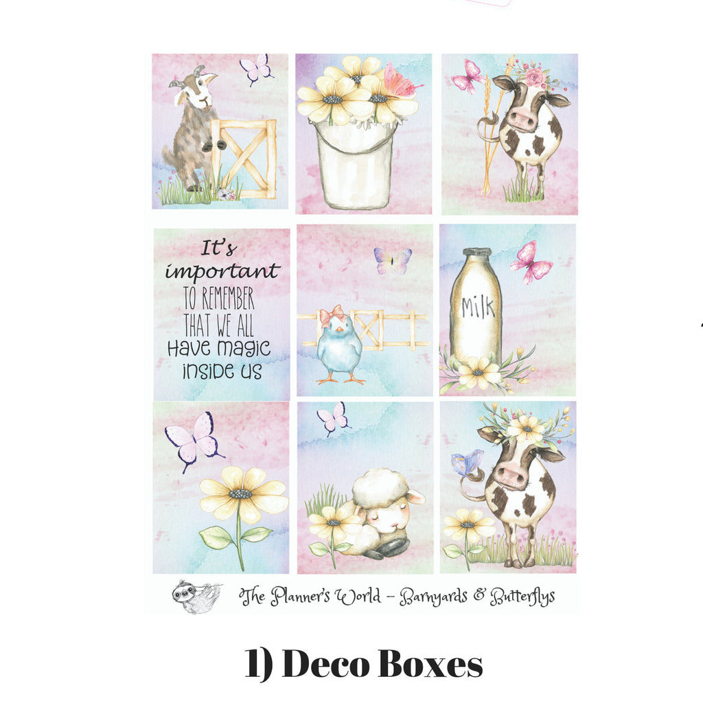 Barnyards and Butterflies Vertical Weekly Kit - Daisy Moo Cow - The Planner's World