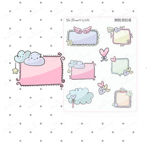 Doodle Boxes Planner Stickers - The Planner's World
