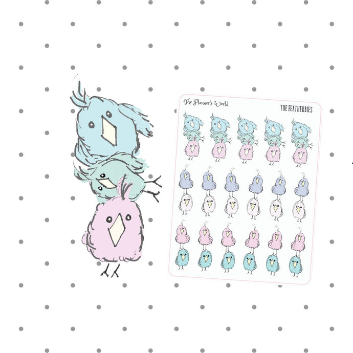 Featherbies Stackables Doodle stickers - The Planner's World