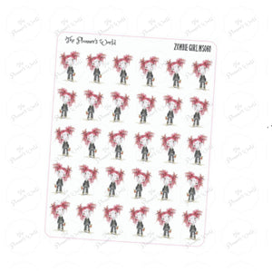 Zombie Girl Planner Stickers - The Planner's World