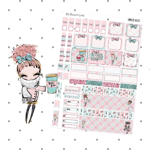 Hobonichi Weeks weekly kit / Sparkly weeks  Sticker kit - The Planner's World