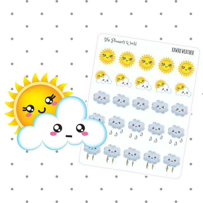 Weather Icon Planner Stickers - The Planner's World