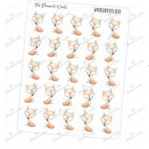 woodland fox planner stickers - The Planner's World