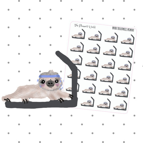 sloth stickers - workout stickers - sloth planner stickers - cute stickers  - fitness - planner stickers - exercise stickers - gym stickers - The Planner's World