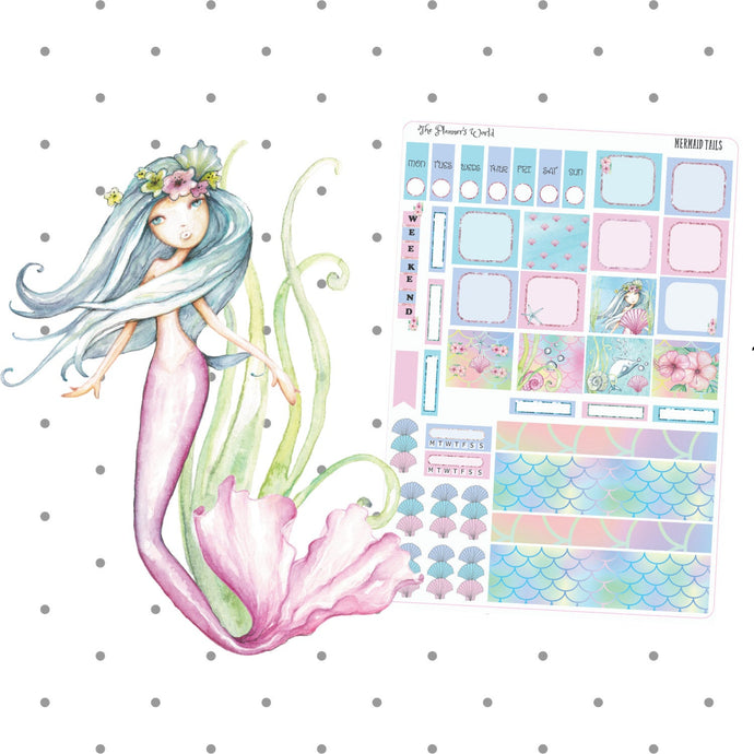 Mermaid Tails Hobonichi Weeks Sticker Kit - The Planner's World
