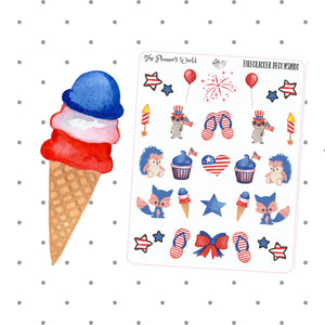 Cute 4th of July Patriotic Firecracker Deco Sampler - The Planner's World