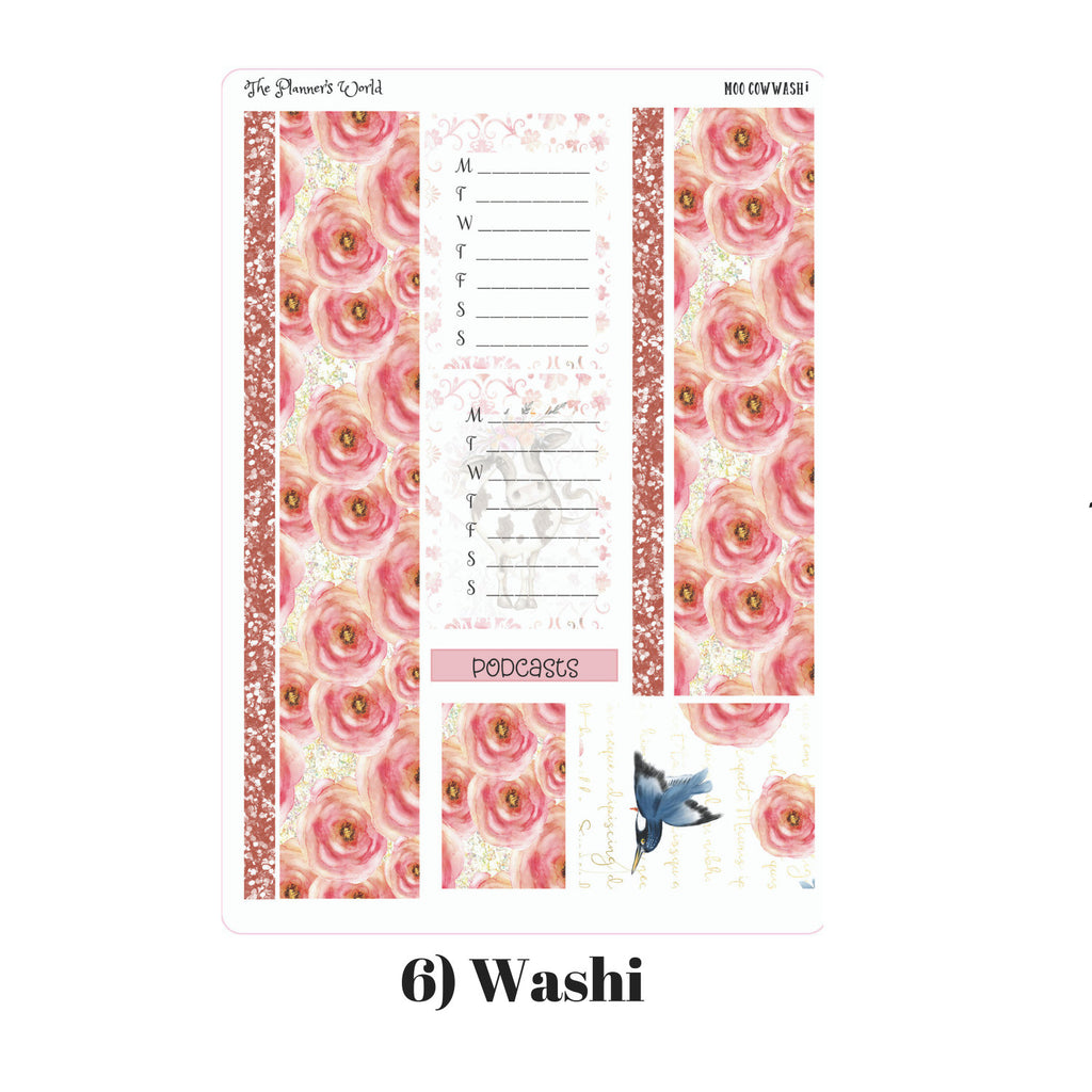 Planner Sticker Kit - Daisy Moo Cow Weekly Kit - The Planner's World