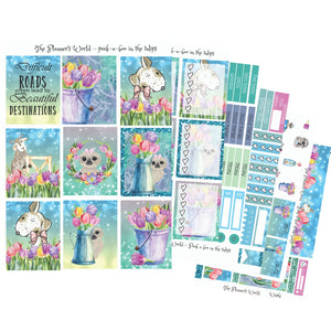 Peekaboo in the tulips Weekly Vertical Kit - The Planner's World
