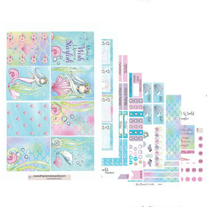 Wish Upon a Starfish ala carte weekly kit - mermaid planner stickers - Mermaid tail Weekly Kit - The Planner's World