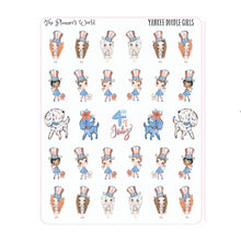 Yankee Doodle Girls - 4th of july stickers - holiday - planner stickers - patriotic - cute - planner girl - july 4 stickers - seasonal - The Planner's World