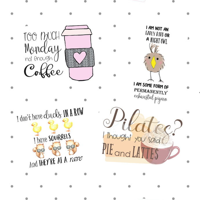 Adulting die cuts - Funny planner stickers - The Planner's World
