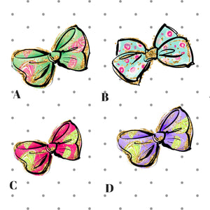 Cute Summer Bow die cut stickers for Planner - The Planner's World
