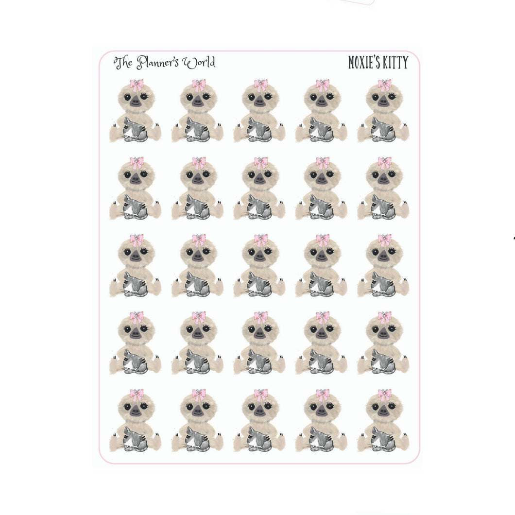 Moxies Kitty cat mom planner stickers - The Planner's World