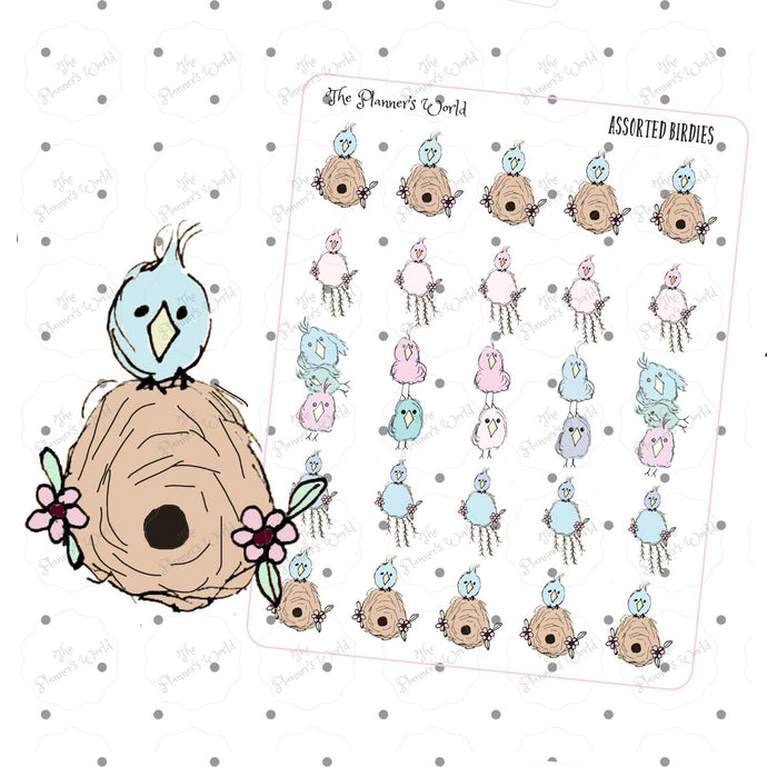 Featherbies Assorted Doodle stickers - The Planner's World