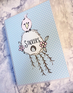 Sticker Album - Planner - Large - 5 x 7 - Featherby Birdhouse - The Planner's World