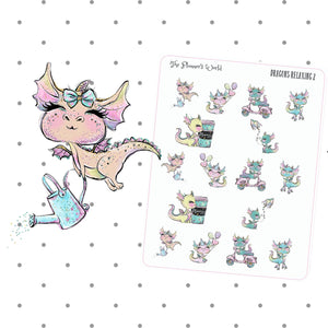 Dragons Relaxing More Planner Stickers - The Planner's World