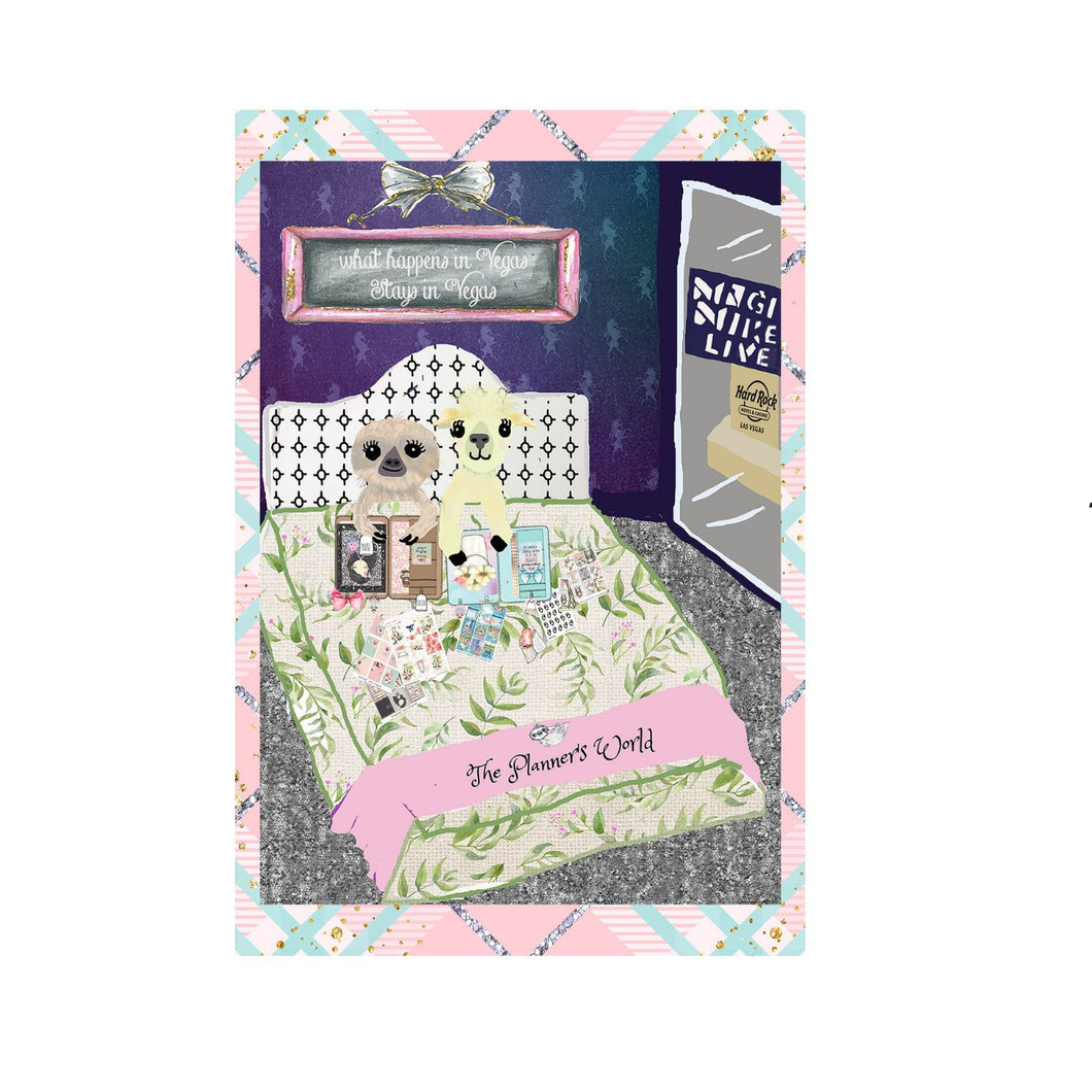 Go Wild 2019 What happens in Vegas Stays in Vegas 4 x 6 planner dashboard - no go swag - The Planner's World