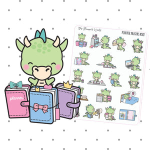 Cute Planner Dragon planner stickers - The Planner's World