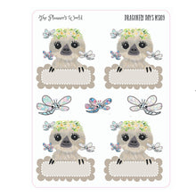 Dragonfly Days Doodle Boxes Planner Stickers - The Planner's World