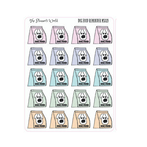 Dog & Cat Pet food reminder stickers - The Planner's World