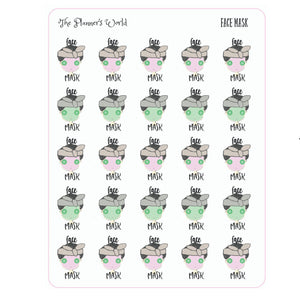 Face Mask Planner Stickers - The Planner's World