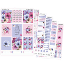 Watercolor Poppies EC Vertical Planner Sticker Kit - Weekly Sticker Kit - Weekly Vertical Stickers - The Planner's World