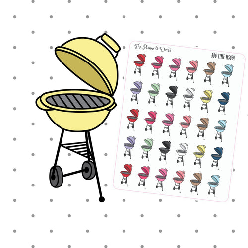 grill Stickers -  bbq stickers - planner stickers - barbeque stickers - grilling stickers - summer stickers - barbecue stickers - functional - The Planner's World