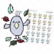 Featherbies fall leave weather planner stickers - The Planner's World