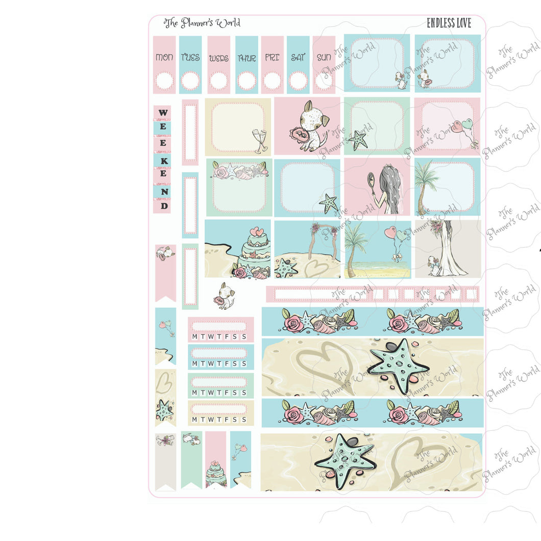 Endless Love Hobonichi weeks sticker Kit - The Planner's World