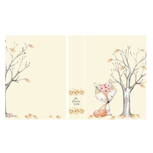 Sticker Album - fox - Large - 5 x 7 - sticker storage - sticker book - The Planner's World