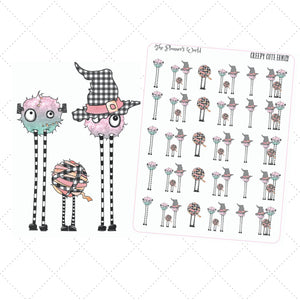 Creepy Cute family planner stickers - The Planner's World