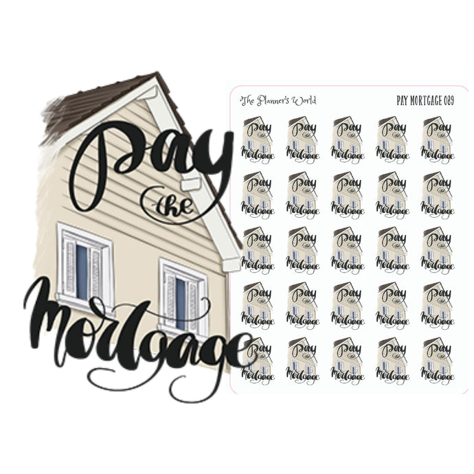 pay mortgage planner stickers - The Planner's World