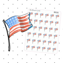 American Flag Planner Stickers - 4th of july stickers - The Planner's World
