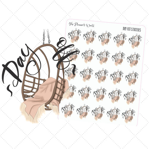 Day off Planner stickers - The Planner's World