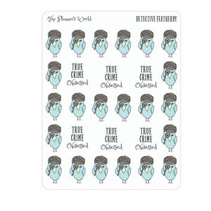 Detective Featherby True Crime Planner stickers - The Planner's World